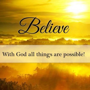 Believe all is possible