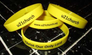 u21church wrist bands