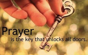 Prayer is the key