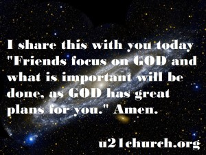u21church - 35 Focus on GOD