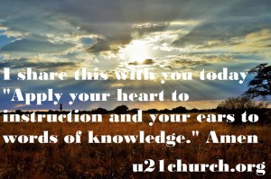 u21church - 74 Apply your Heart