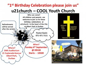 u21church invite Birthday Celbration