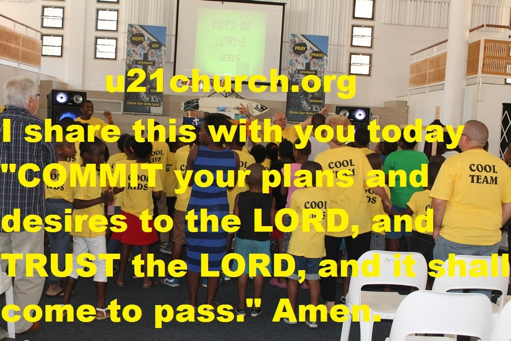 COMMIT YOUT PLANS TO THE LORD
