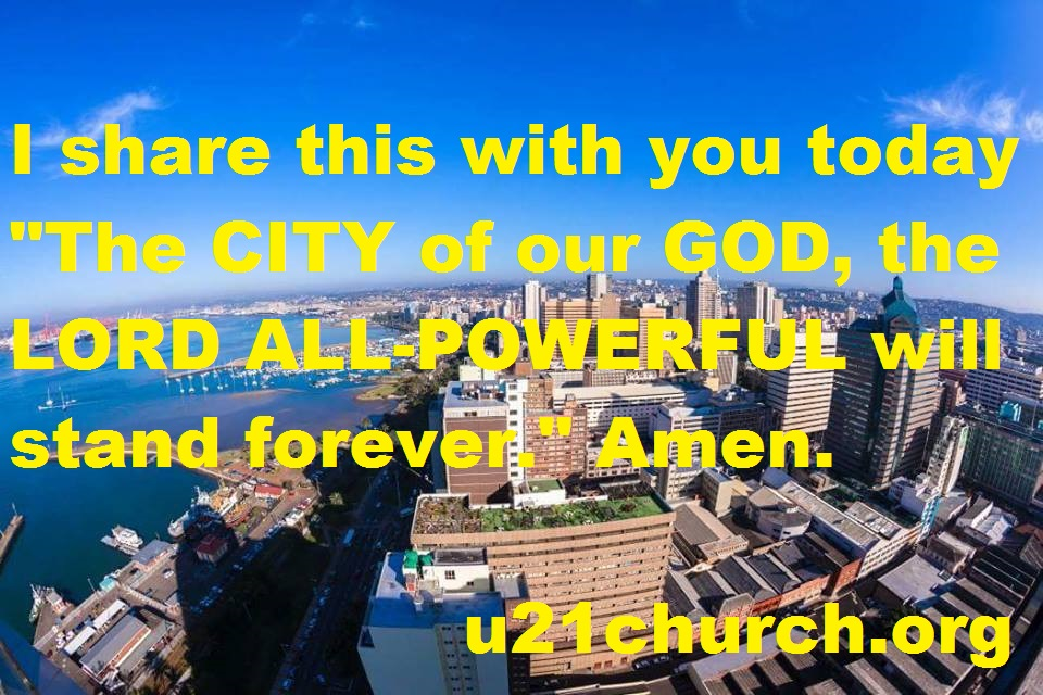 u21church - 151 CITY OF GOD