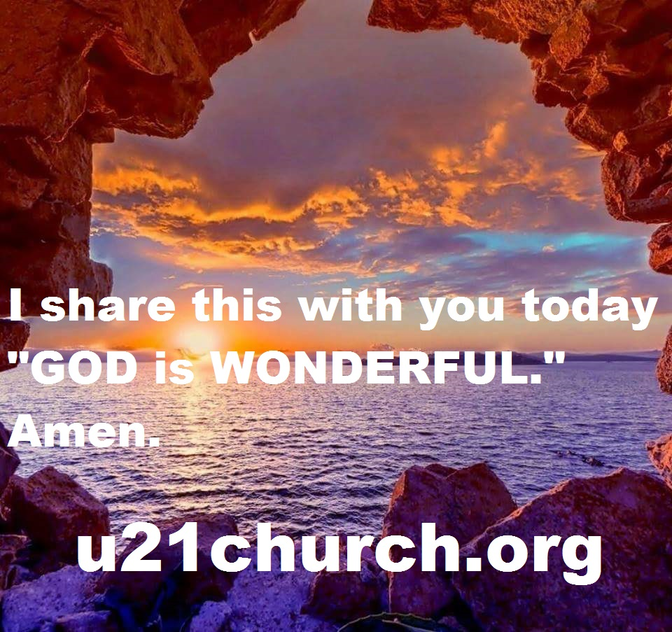 u21church - 166 GOD IS WONDERFUL