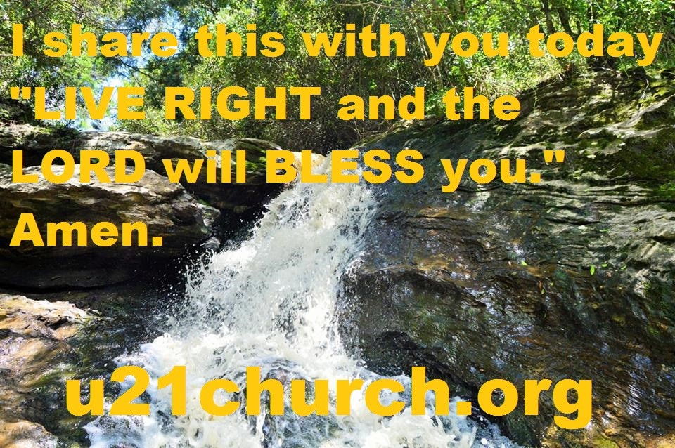 u21church - 230 LIVE RIGHT