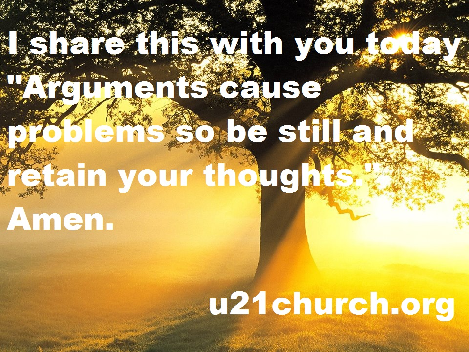 u21church - 257 ARGUMENTS