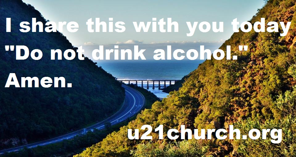 u21church - 265 DO NOT DRINK ALCOHOL