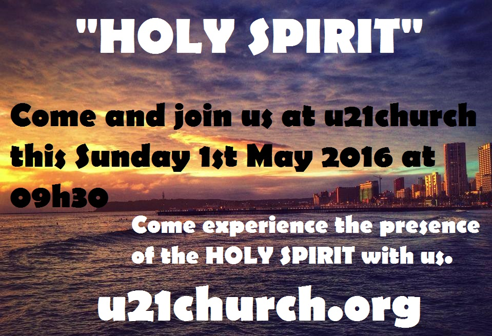 u21c  Sunday 1st May 2016 - HOLY SPIRIT
